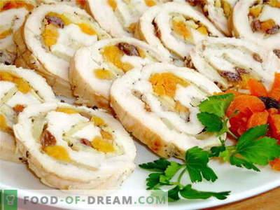 Piščančji zvitek - najboljši recepti. Kako pravilno in kuhamo piščančji zvitek.
