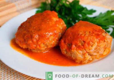 Mesne kroglice z rižem - dokazani recepti. Kako pravilno in okusno kuhane mesne kroglice z rižem.