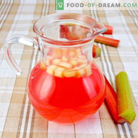 Kompot iz rabarbare - najboljši recepti. Kako pravilno in slastno pripraviti kompot od rabarbare.