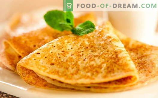 Palačinke s kvasom - dokazani recepti. Kako pravilno in okusno kuhati palačinke s kvasom.