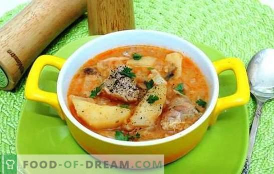 Coaceți cartofi cu carne de porc într-un aragaz lent - da! Stews, caserole și cartofi umpluți cu carne de porc într-un aragaz lent