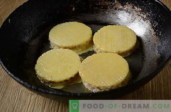 Lazy chops in waffles: avtorjev korak po korak foto-recept. Nenavaden kulinarični poskus - sočno mleto meso na vaflih