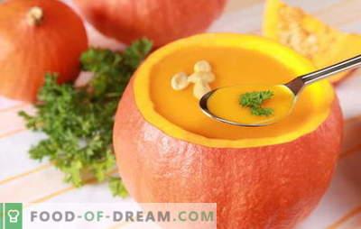 Supa cremoasă și delicată din dovleac: rețete și trucuri de gătit. Prezentarea originală și rețeta de sutiene uleioase de dovleac