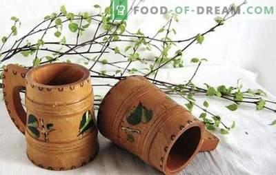 Breza kvas z rozinami - originalna vitaminska pijača. Najboljši recepti za breze kvas z rozinami