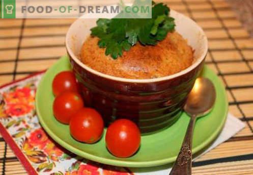 Sufle iz jeter - najboljši recepti. Kako hitro in okusno kuhamo sufle iz jeter.