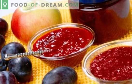 Jam iz jabolk in slive - jantarno sladkost do čaja in za peko. Najboljši recepti za dišeči džem iz jabolk in slive