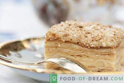 Napoleonova torta - najboljši recepti. Kako pravilno in kuhati napoleonsko torto.
