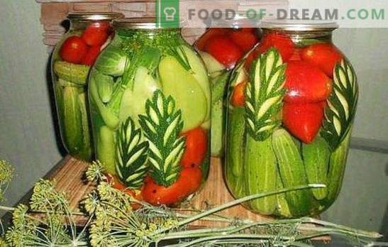 Izbrane kumare: kako to narediti? Izberite marinado za izbrane kumare s paradižnikom, cvetačo, bučkami, papriko