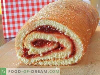 Biscuit roll - najboljši recepti. Kako pravilno in okusno kuhamo pecivo.