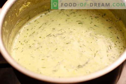 Kremna omaka - najboljši recepti. Kako pravilno in okusno kuhano smetano omako.