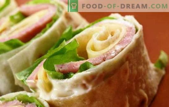 Pojdite po cesti: pita kruh s klobaso in sirom. Možnosti oblikovanja in polnila za pita kruh s klobaso in sirom