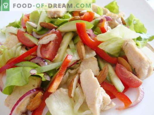 Insalata di pollo e cetrioli - le migliori ricette. Come correttamente e gustoso per preparare un'insalata con pollo e cetrioli.