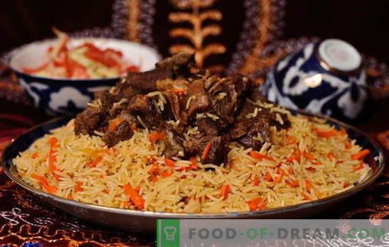 Ta Uzbek plov - recepti in skrivnosti kuhanja. Kako narediti uzbeški pilaf jagnjetine, piščanca, s suhim sadjem
