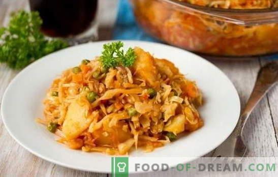 Najboljši recepti za kuhano zelje z mesom v počasnem štedilniku. Kako kuhati zejo z mesom: obarvano, belo zelje, brokoli itd.
