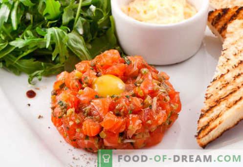 Tartar z lososom - najboljši recepti. Kako pravilno in okusno kuhati tartare lososa.