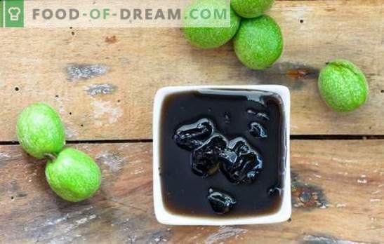 Naša eksotičnost je zeleni džem iz oreha. Kuhanje neenakomerne moke z orehovim zelenjem z lupino