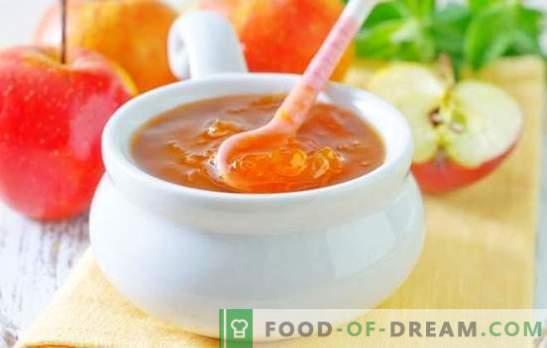 Jabolčni žele za zimo - jantarna sladkost! Recepti različnih želejev iz jabolk za zimo: z želatino in brez zgoščevalcev