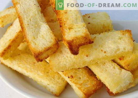 Croutoni so najboljši recepti. Kako pravilno in okusno kuhani kruh.