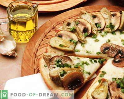 Pizza z gobami - najboljši recepti. Kako pravilno in okusno kuhati gobo pico.