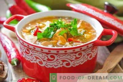Piščančja juha Kharcho - najboljši recepti. Kako pravilno in okusno kuhati juho Kharcho piščanca.