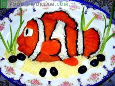 Ribja solata - najboljši recepti. Kako pravilno kuhati ribjo solato.