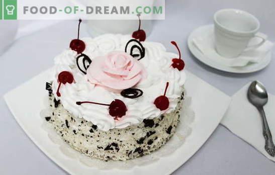 Torta s stepeno smetano - blaženost na ustih. Recepti za torte s stepeno smetano: piškoti, medom, čokolado, sadjem