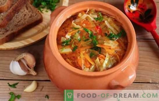 Lean juha iz zelja iz kislega zelja - recepti in skrivnosti za kuhanje. Kako kuhati okusno suho juho iz kislega zelja
