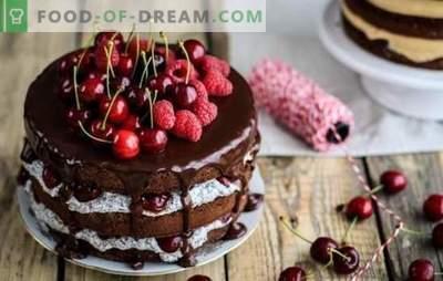 Sladka torta - okus poletja! Recepti čudovitih peciv s češnjami: piškot, žele, skuta, puff