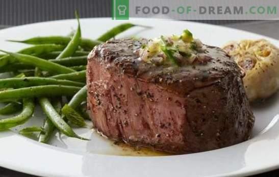 Entrecote v pečici - klasična francoska kuhinja! Kuhanje entrecota v pečici govedine, jagnjetine, teletine in svinjine