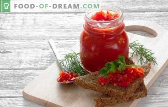 Adjika začinjena z jabolki - okusna malica za vsako jed. Recepti in skrivnosti okusne pikantne adjike z jabolki