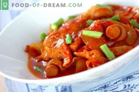 Piščančja obara - najboljši recepti. Kako kuhati piščanca.