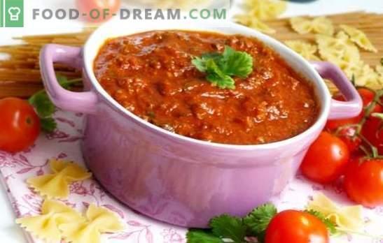 Bolognese omaka doma - najboljši dodatek za testenine! Klasični in novi recepti za domače bolognese omake