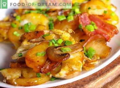 Krompir z gobami - najboljši recepti. Kako pravilno in okusno kuhati krompir z gobami.