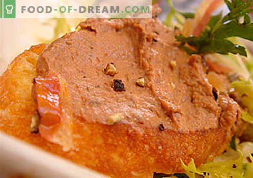 Gosja pašteta - najboljši recepti. Kako pravilno in okusno kuhati gosja pašteta.