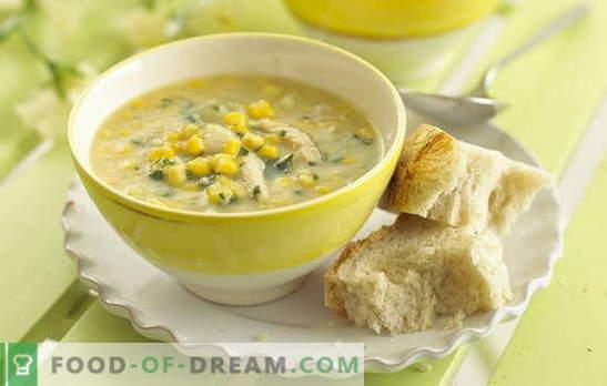 Koruzna juha je priljubljena sestavina v nenavadnem dizajnu. Zanimive konzervirane koruzne juhe