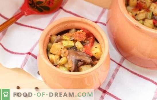 Enolončnice v pečici: recepti in skrivnosti. Kako kuhati zelenjavo, meso, gobovo enolončnico v lončkih v pečici