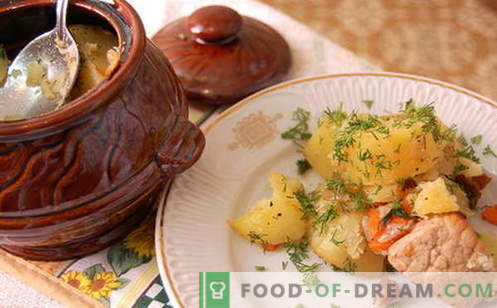 Las carnes asadas son las mejores recetas. Cómo cocinar correctamente y sabroso el asado en ollas.