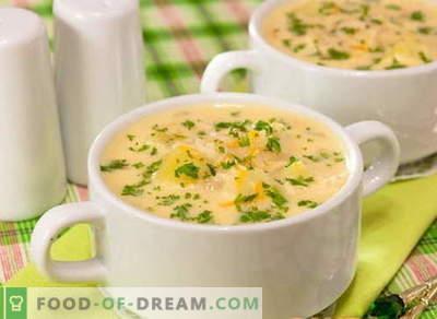 Juha s sirom - najboljši recepti. Kako pravilno kuhati juho iz sira.